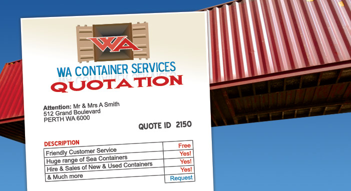 Online Australian Shipping Containers Quote