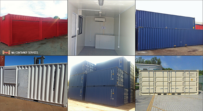 Sea containers montage